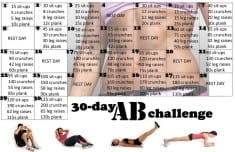 30-Day Ab And Squat Challenge!