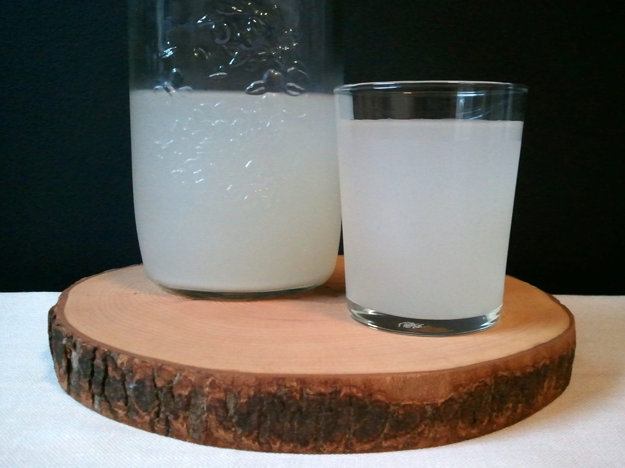 Ready coconut water kefir