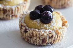 Raw Lemon Blueberry Tartlets