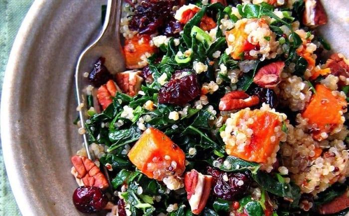 Roasted Beet, Sweet Potato & Kale Salad