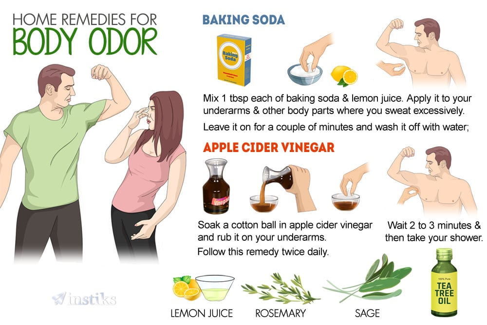 How To Get Rid Of Underarm Odour Naturally