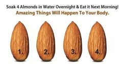Soak 4 Almonds In Water Overnight And Eat It The Next Morning! Amazing Things Will Happen To You ...