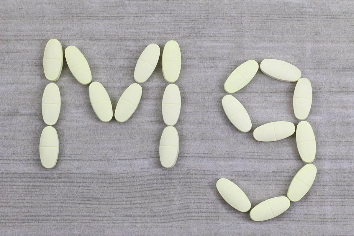 Magnesium tablets in a shape of Mg alphabet