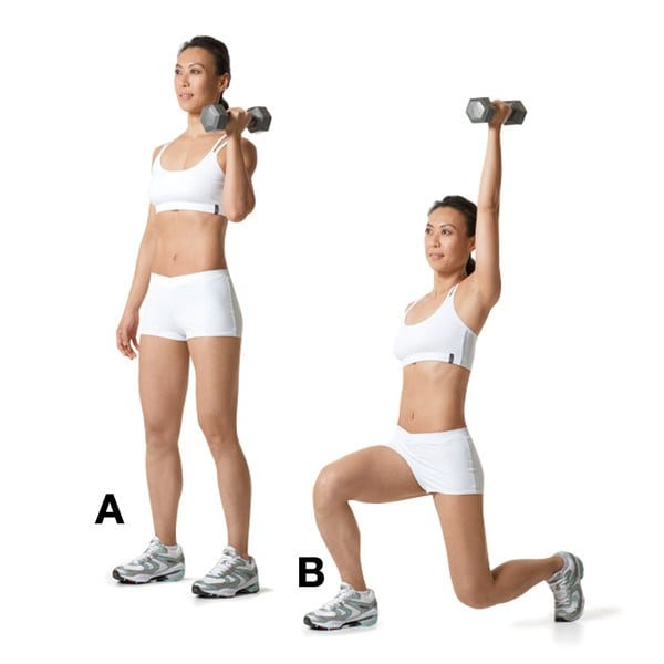Advanced-Workout-Reverse-Lunge-with-Single-Arm-Press