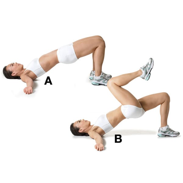Basic-Workout-Glute-Bridge-March
