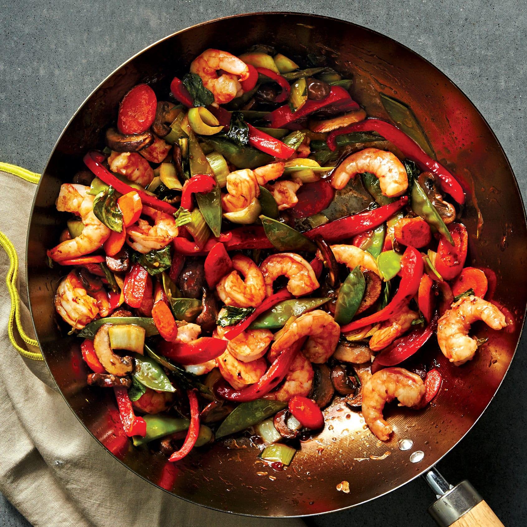 For Dinner Tonight, Try Shrimp-Vegetable Stir-Fry With