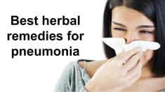 Pneumonia Home Remedy and natural cures treatment