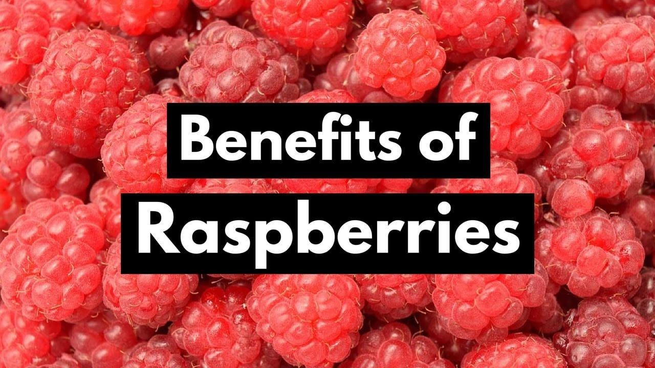 Ripe and incredibly healthy raspberries