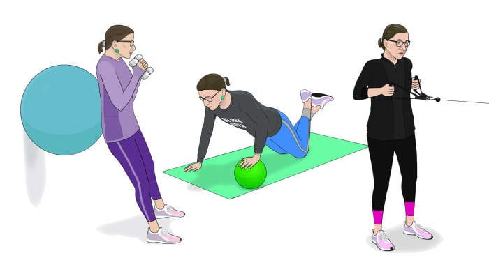 3 Strength Exercises You Should Steal From Ruth Bader Ginsburg